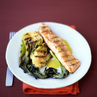 Grilled Salmon with Citrus Sauce.