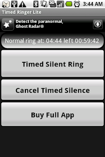 Timed Ringer Silencer Lite - screenshot thumbnail