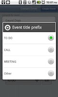 Screenshot of Contact Event