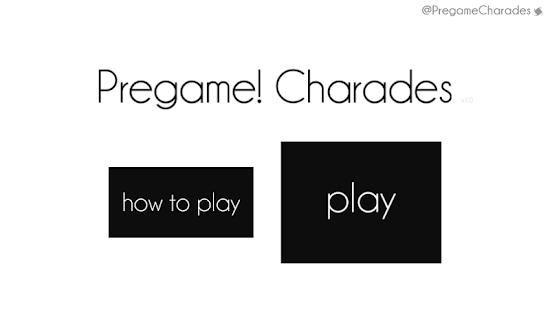 Pregame Charades Free