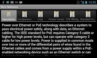 Screenshot of Wire Reference