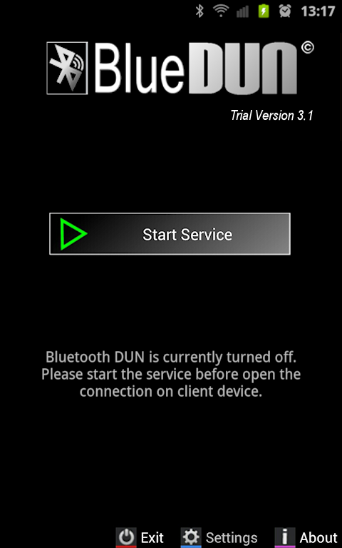 BlueDUN+ Trial- screenshot