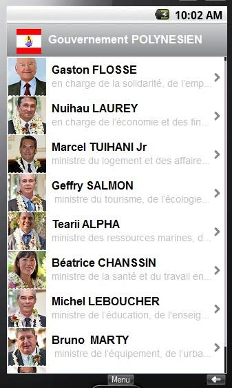 gouvernement TAHITI - screenshot