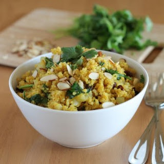 Curried Quinoa with Spinach.