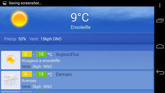 Meteo Geneve Screenshot Thumbnail
