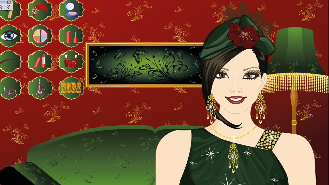 Hat Fashion Make Up Game - screenshot