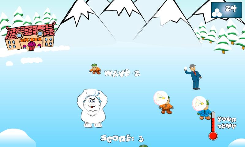 SnowBall Fight Winter Game HD- screenshot