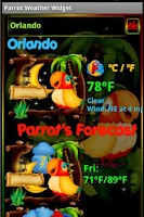 Screenshot of Parrot Weather Widget