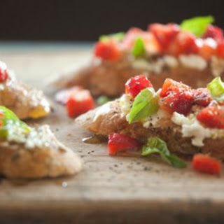 Goat Cheese Bruschetta Appetizers Recipes.