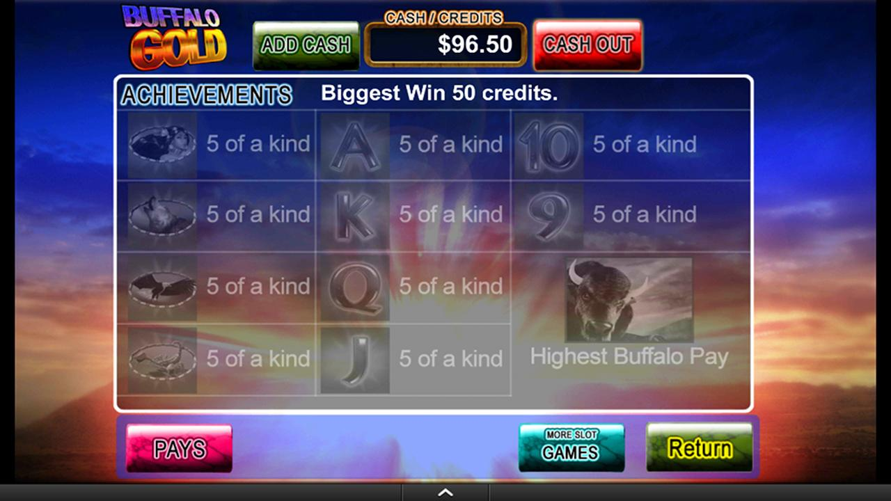 Buffalo Gold Video Slot Game- screenshot