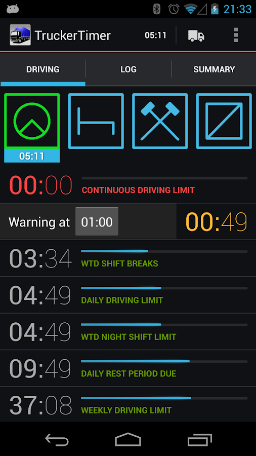TruckerTimer - screenshot