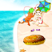 Beach!Donut Boy and Girl Trial