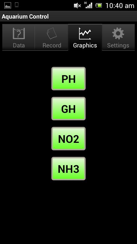 Acuario Control: captura de pantalla