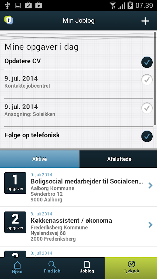 Jobnet App - screenshot