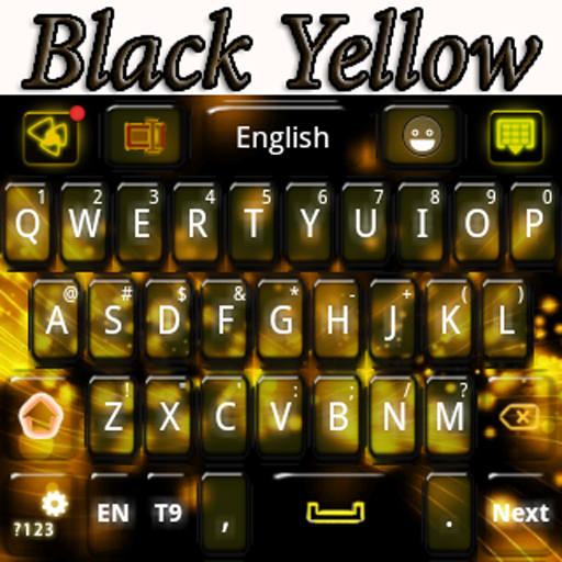 Black Yellow Keyboard 個人化 App LOGO-硬是要APP