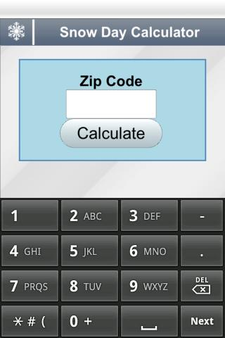 Snow Day Calculator - screenshot