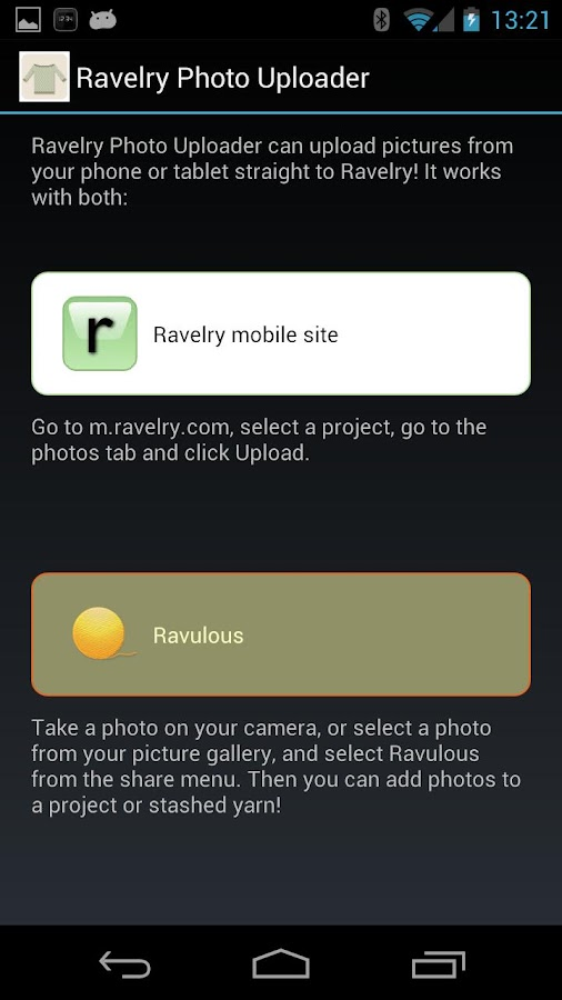 Ravelry Photo Uploader - screenshot