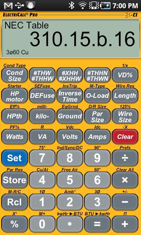 ElectriCalc Pro Calculator- screenshot