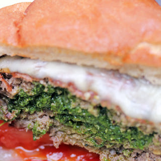 Pesto Stuffed Burgers