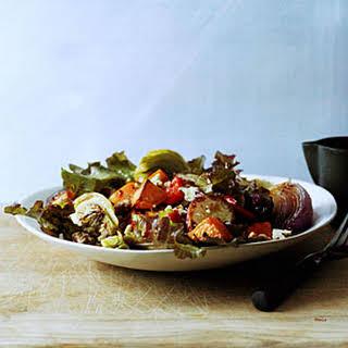 Roasted Vegetable Salad with Honey Dressing.