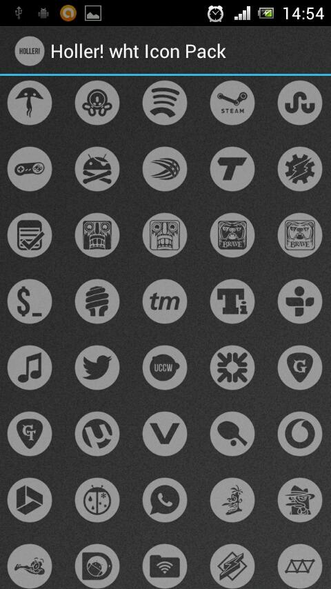 Holler! wht Icon Pack - screenshot