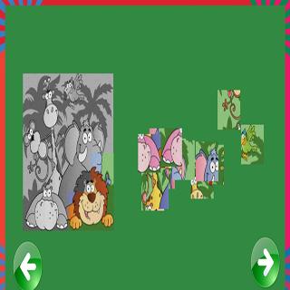 動物ジグソーパズルゲーム
