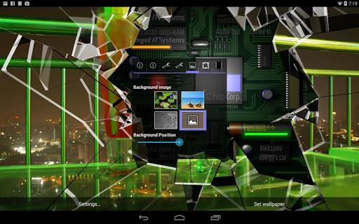 Cracked Screen Gyro 3D Parallax Wallpaper HD app (apk) free
