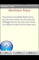 Screenshot of Worthless Trivia