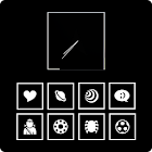 Boxed White Theme Go/Nova/Apex icon