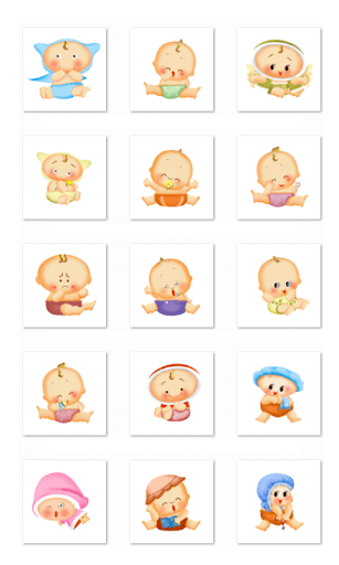 Cute Baby Stickers-LINE