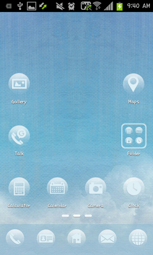 SKY go launcher theme