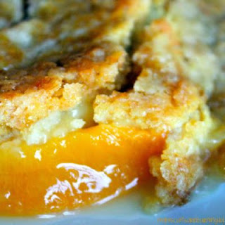 1-2-3 Peach Dump Cake.