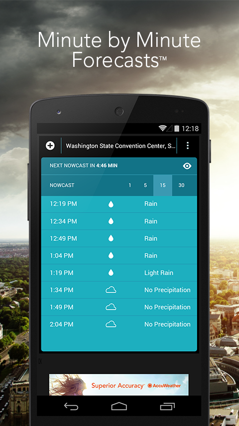 MinuteCast by AccuWeather - screenshot