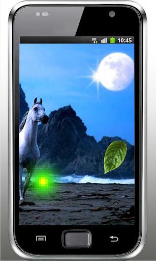 Horses n Moon live wallpaper