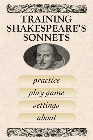 Shakespeare Sonnet Trainer - screenshot