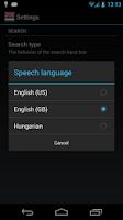 Screenshot of Offline English Hungarian Dict