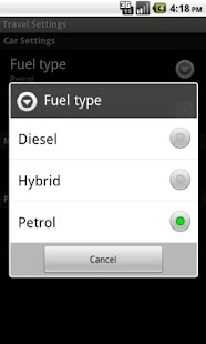 Ausante CO2 calculator- screenshot thumbnail
