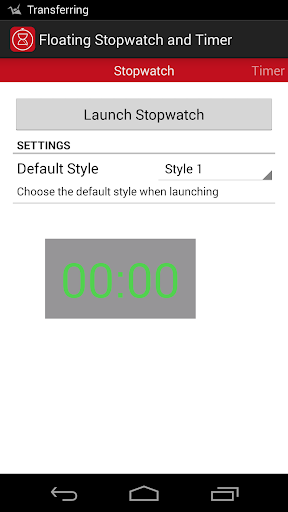 Floating Stopwatch and Timer