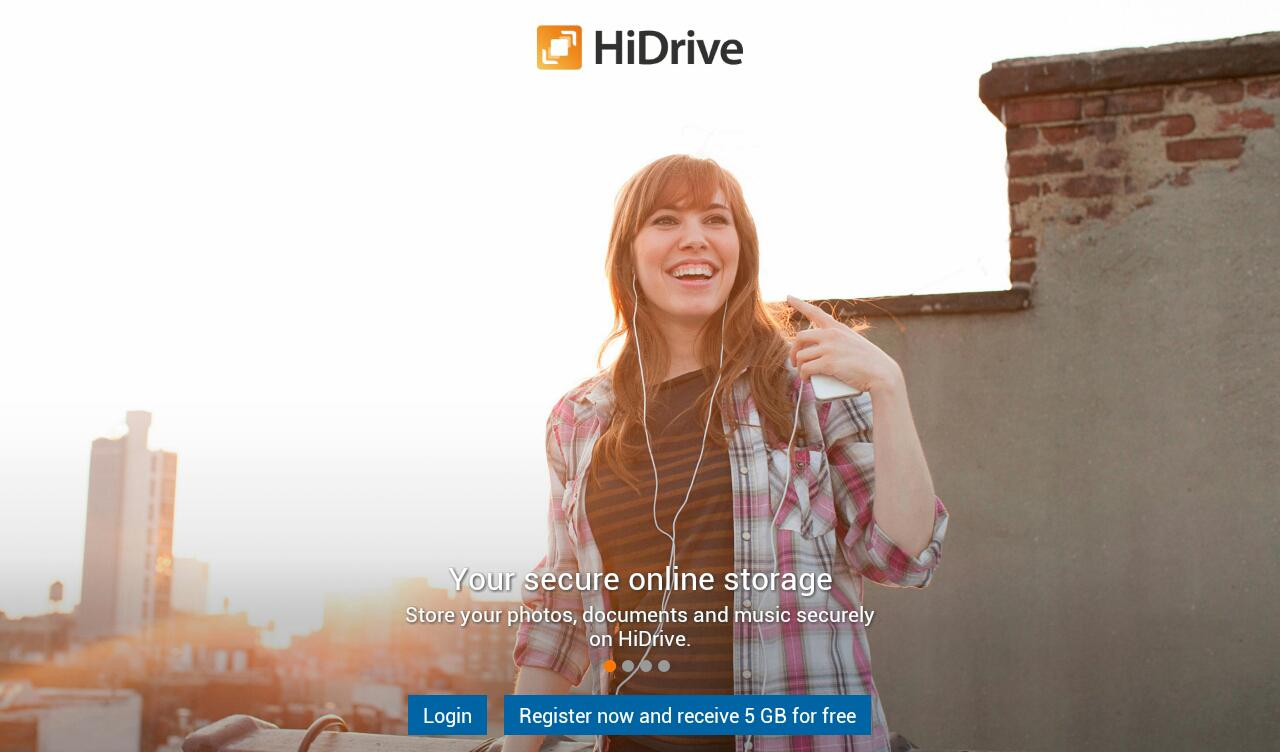 HiDrive - screenshot