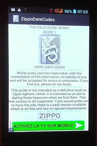 zippo year chart