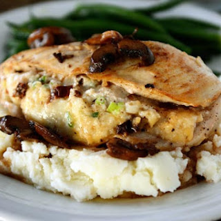 Stuffed Chicken Marsala.