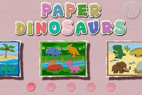 Paper Dinosaurs Puzzle