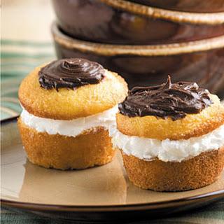 Easiest Boston Cream Cupcakes.