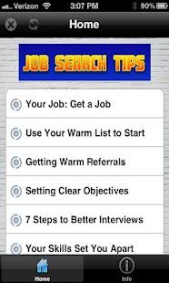 Job Search Tips!- screenshot thumbnail
