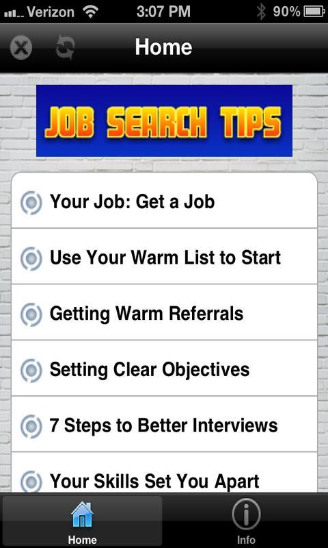 Job Search Tips!- screenshot