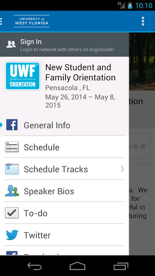 ArgoGuide: UWF - screenshot