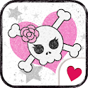 Cute wallpaper★cute pink skull icon
