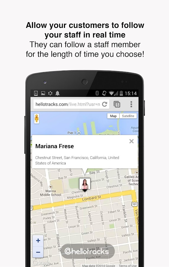 Hellotracks, GPS Phone Tracker- screenshot