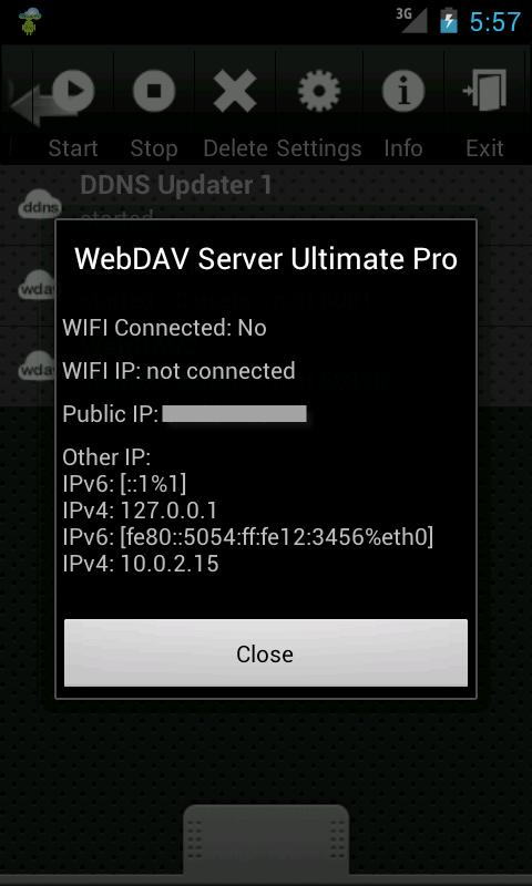 WebDAV Server Ultimate Pro- screenshot