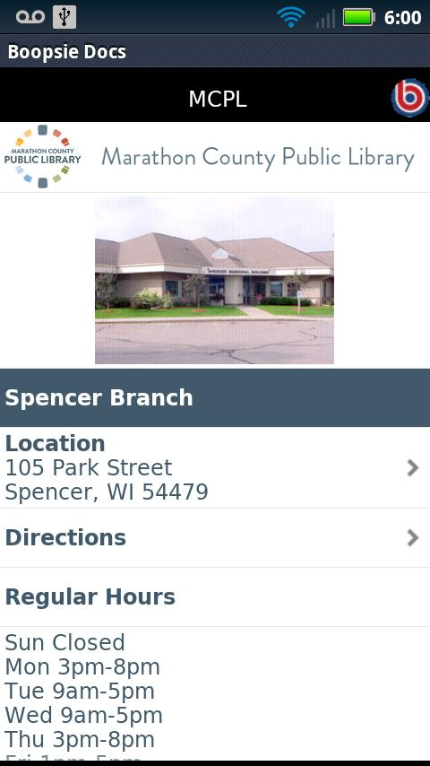 Marathon County Public Library- screenshot